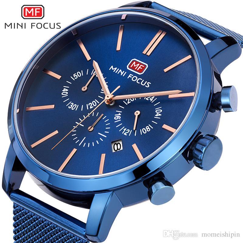 2019 Nouveau Hommes Montres Mode Bussiness Quartz Hommes militaire Chronographe Montre-bracelet Horloge Nouvel An cadeau Relogio Masculino