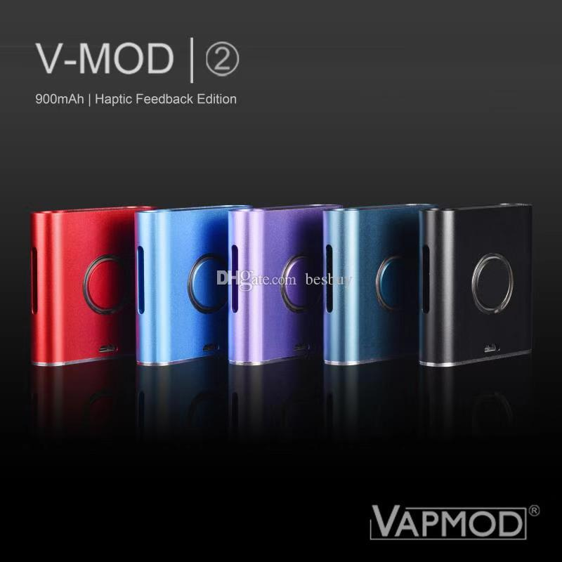 100% Original VAPMOD VMOD 2 I II MOD Batteria Mod Batteria 900mAh Preheat VV VAPA VAPA VAPE PEN PEN BOX KIT MODS per 510 cartucce olio spesse Genuine