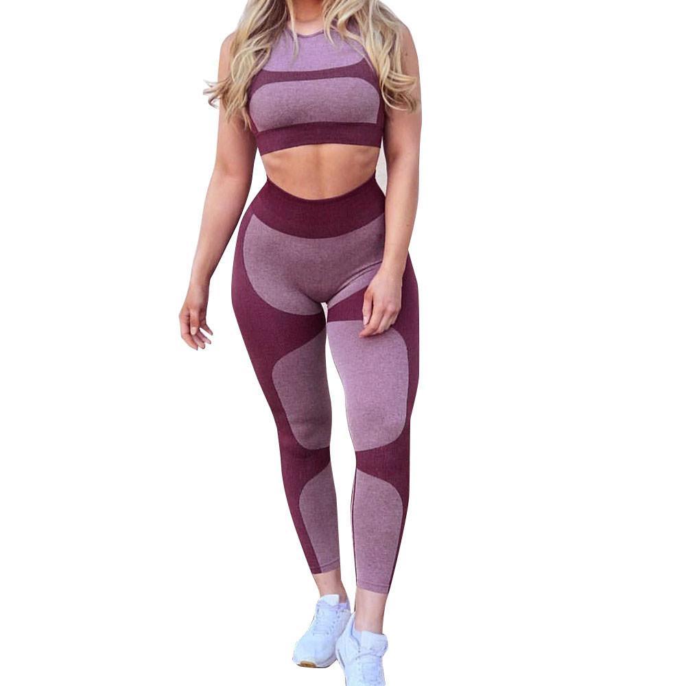 Perimede Womens set yoga allenamento Leggings Sport Yoga Palestra Fitness Atletico pancia di controllo Palestra collant a compressione pantaloni # G25