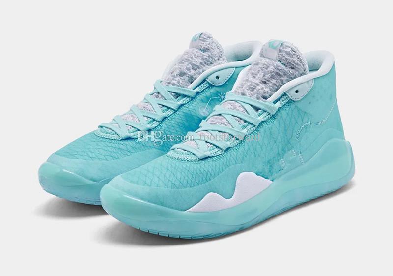 Box 2019 yeni Kevin Durant 12 Basketbol ayakkabıları ücretsiz kargo Boyut U7-US12 ile satışa Sıcak KD 12 Mavi Gaze Teyzem ayakkabı