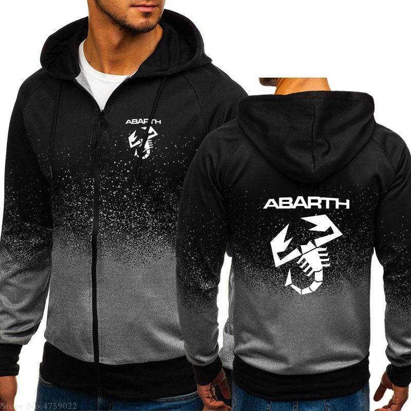 Inverno Autunno uomini felpe con cappuccio Top Abarth felpa nuovo design Giacca con cappuccio cerniera tuta sportiva del cappotto cardigan lunghi manica