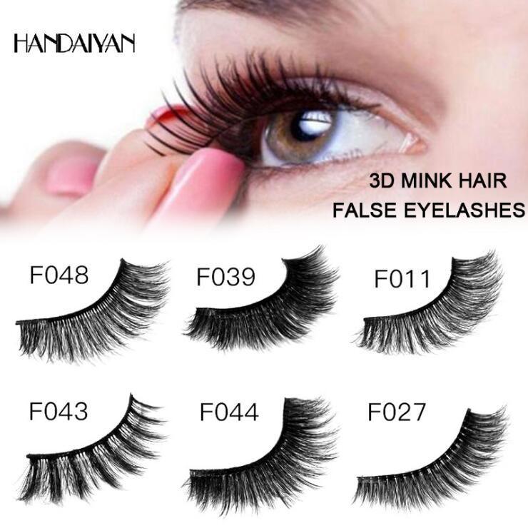 3D Mink Hair False Eyelashes Curling Soft And Long Three-dimensional Thick False Eyelashes Charming Eyelashes Plastic Black Terrier DHL