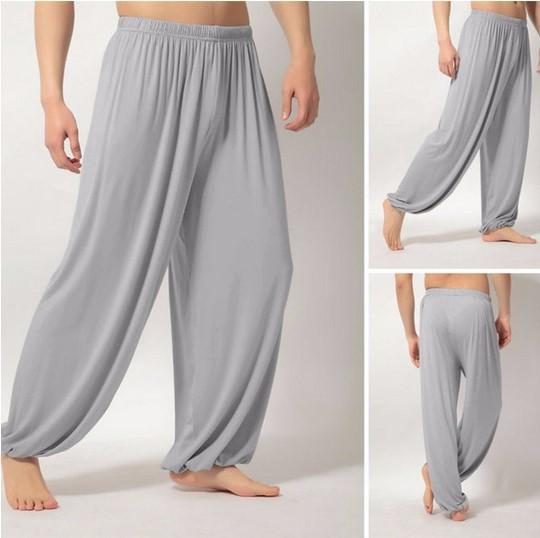 Loose Yoga Pants Fitness Clothing Gym Exercise Wushu Tai Chi Kungfu for Women & Men Sports Pants White Gray Clothes