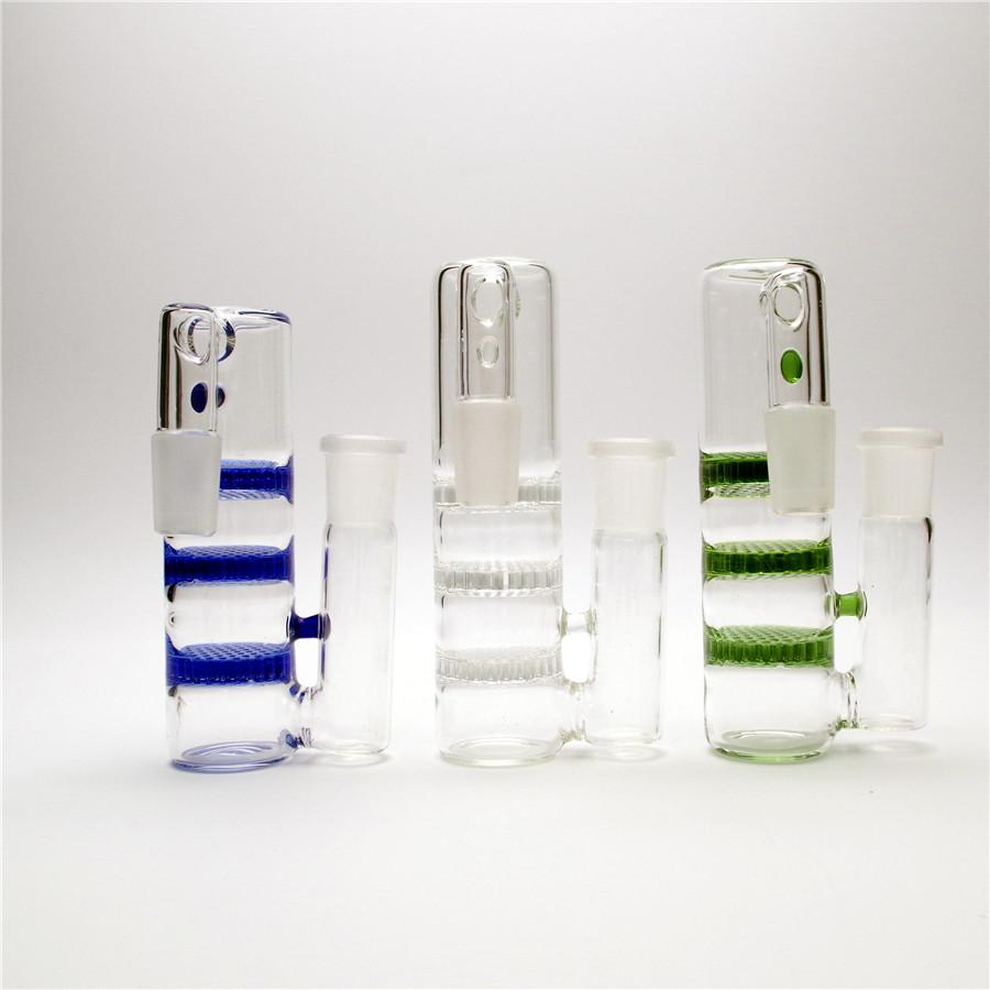 5,6 em 18 milímetros Conjunto Três cores ashcatcher de Hookah smokingbong Bong coador Bongos Pipes entrega Glass Global Único