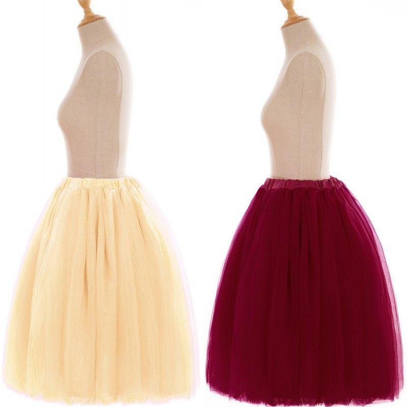 증권 60cm 여름에서 미디 얇은 명주 그물 스커트 패션 내기 투투 스커트 여자 로리타 페티코트 신부 들러리 Jupe SAIA는 CPA583을 faldas