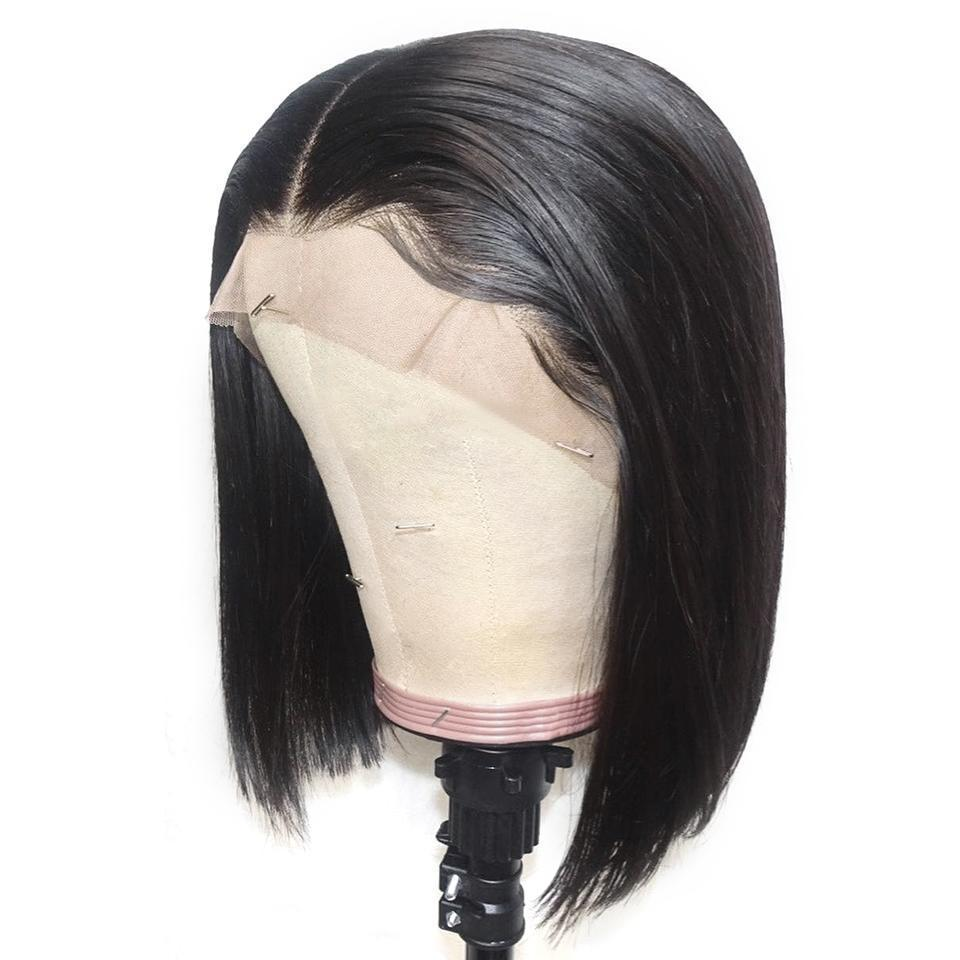 Fake Scalp Lace Front Wigs Bob Cut Brazilian Straight Glueless Short 13x6 Lacefront Human Hair Fake Scalp Wig Pre Plucked With Baby Hair