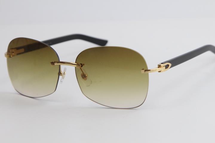 도매 무테 8100908 블랙 판자 골드 메탈 프레임 선글라스 패션 높은 품질의 남성과 여성 핫 선글라스 오버 사이즈