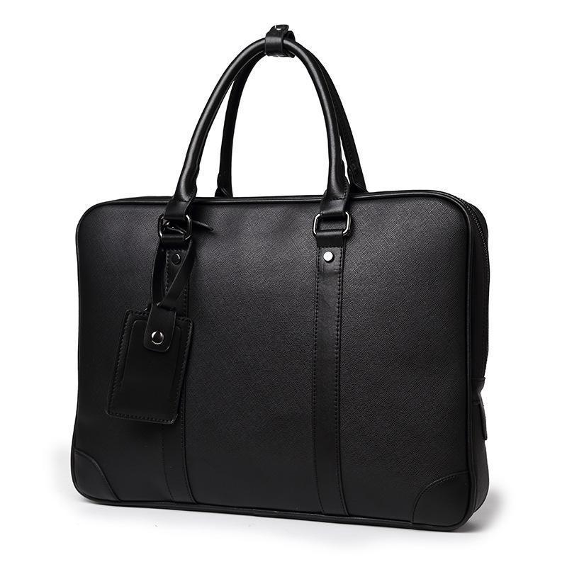 Escritório Arquivo Laptop Business Homens Viagens Pu Couro Casual Bolsa Masculina Tote 2019 Bag Clássico Pasta Computador Preto Soft Bags Wesbv