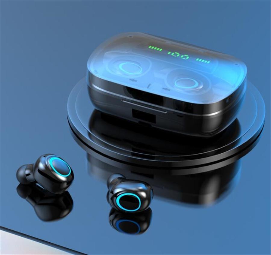 Y30 Tws Bluetooth 5.0 étanche casque écouteurs sport Tws écouteurs avec chargeur Case Tws4 écouteur sans fil pour téléphone mobile Casque #O