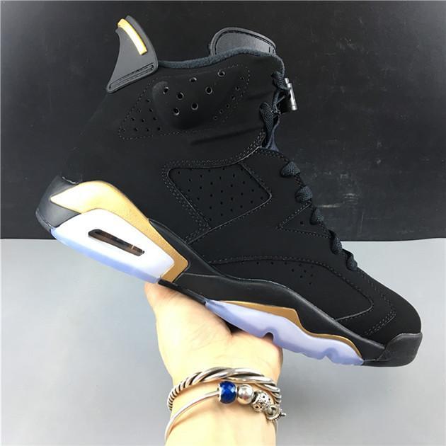 2020 Veröffentlicht Nike air jordan retro 6 Authentic 6 DMP 6S Schwarz 612 Metallic Gold 23 Retro CT4954-007 Basketball Männer Frauen Sport
