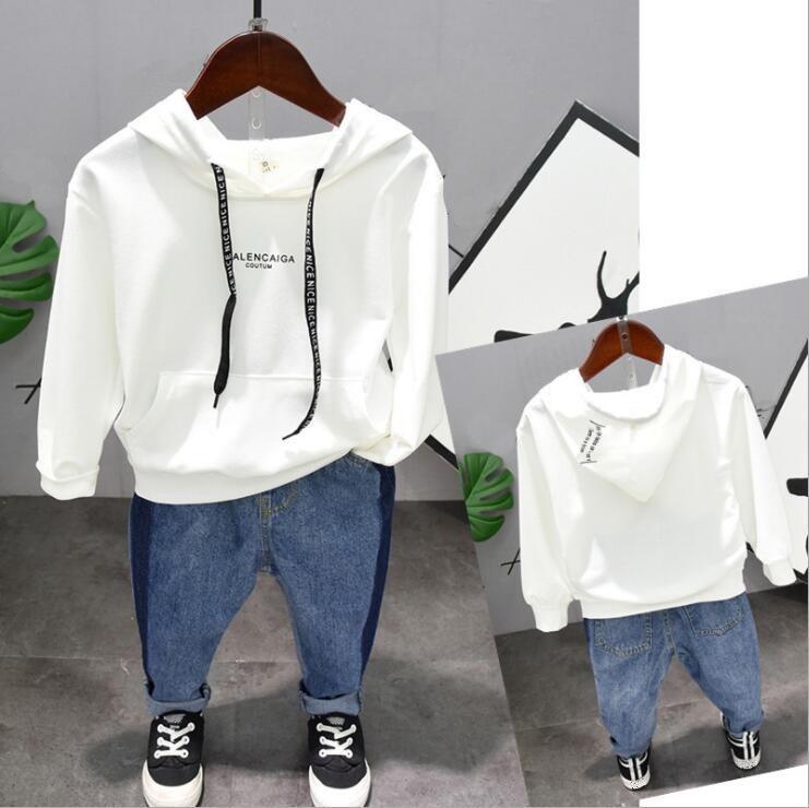Kinderkleidung Marke Baby-Kleidung stellte Frühling Herbst Kleinkind Jungen Kleidung Sets Jungen mit Kapuze + pants 2pcs Sätze 2-6years CJ191220