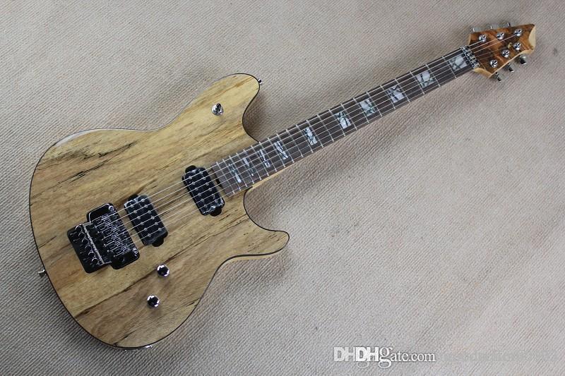أعلى جودة الخشب الصلب الجسم EVH فولفغانغ Burlywood الغيتار الكهربائي مع فلويد روز اهتزاز