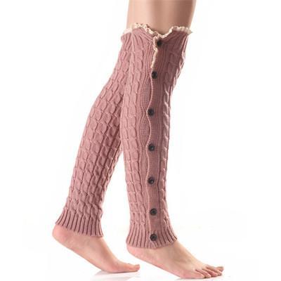 2019 meias botão rendas rendas de Natal para aquecedores senhoras perna e aquecedores de joelho