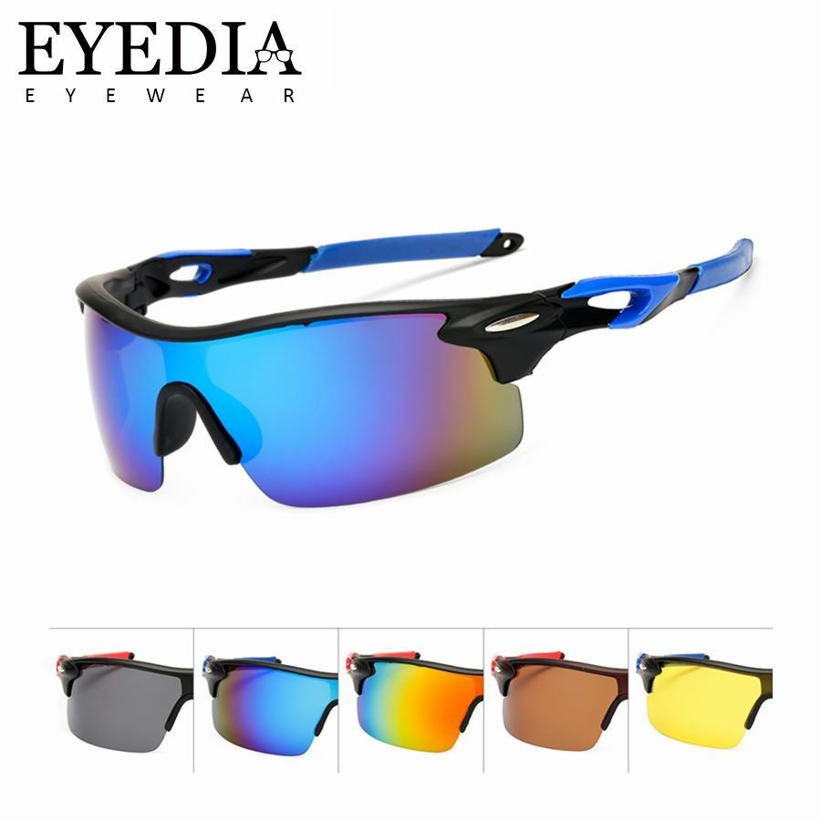 New Brand Vintage Fashion High End Men Polarized Sport Sunglasses Blue Mirror Windproof Skiing Sun Glasses For Unisex L1010KP