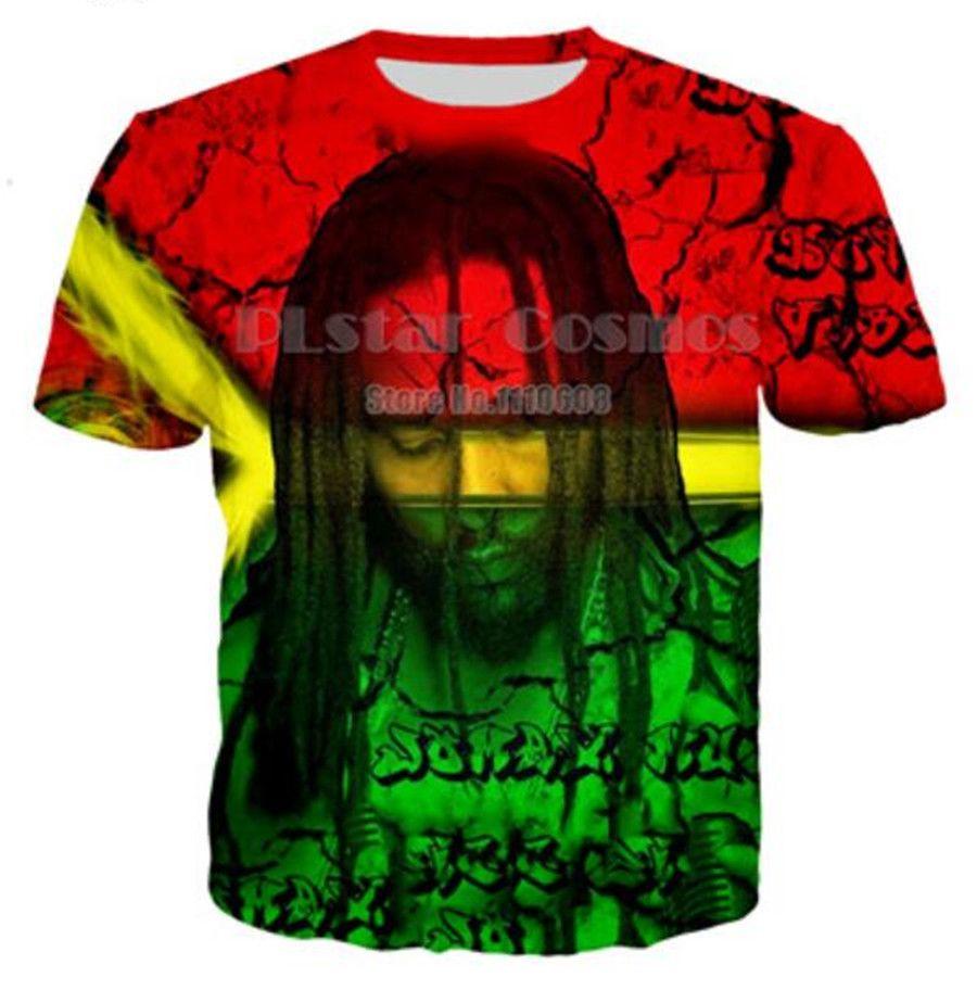 2020 Hot Bob Marley 3D a venda Camiseta Imprimir T-shirt das mulheres dos homens engraçados Tops manga curta Hip Hop roupas de verão U2090