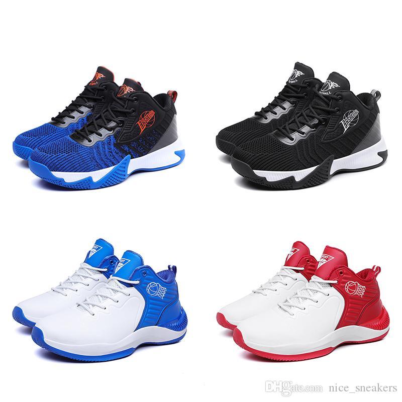 غير التجارية الأزياء الرجال الاحذية الثلاثي أسود أزرق أحمر رجل مدربة رياضية أحذية رياضية العدائين الحرة الشحن 40-44