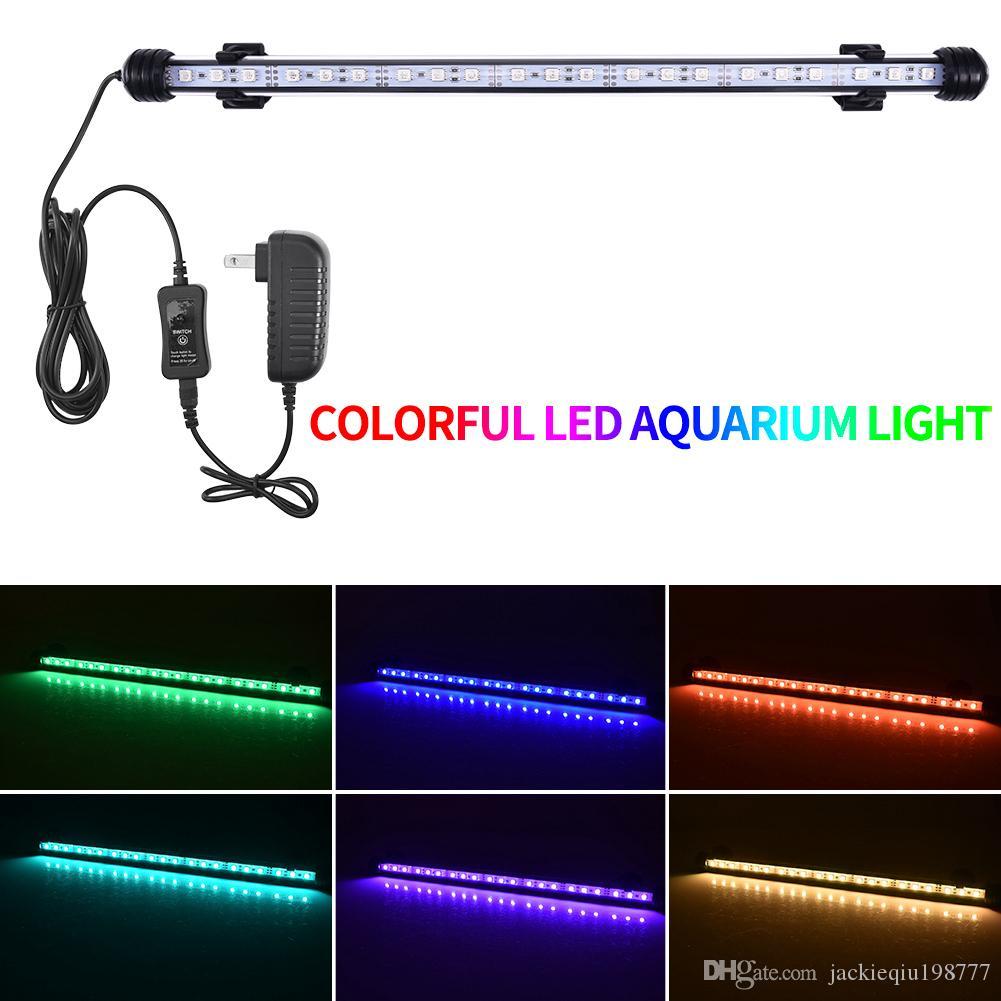 11 inç-36 inç su geçirmez LED Akvaryum Cam Tüp Yama Işıklar Tam Rezervuarlar rokay Pet kafesleri için Batık LED Fish Tank Işıklar