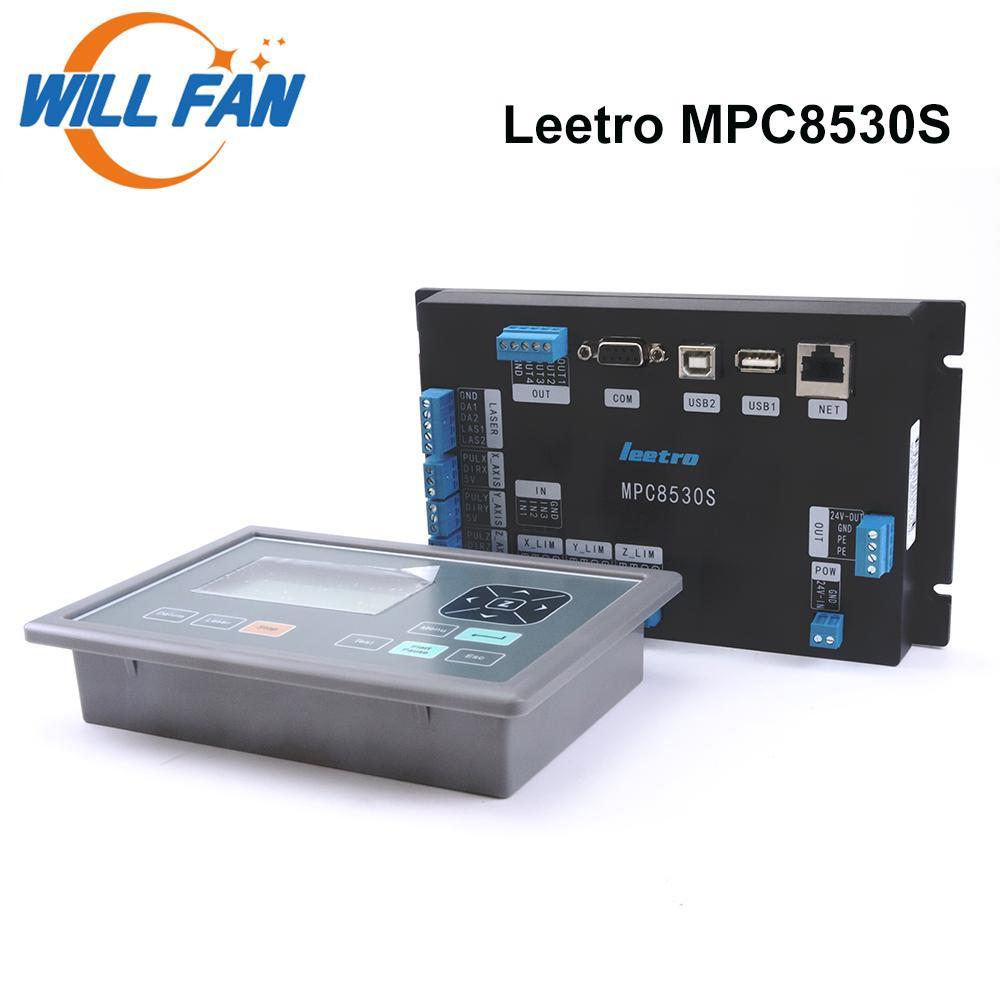 레이저 조각 커터 기계 CNC 키트 메인 보드 시스템 부품을위한 LEETRO MPC8530S CO2 레이저 컨트롤러 팬