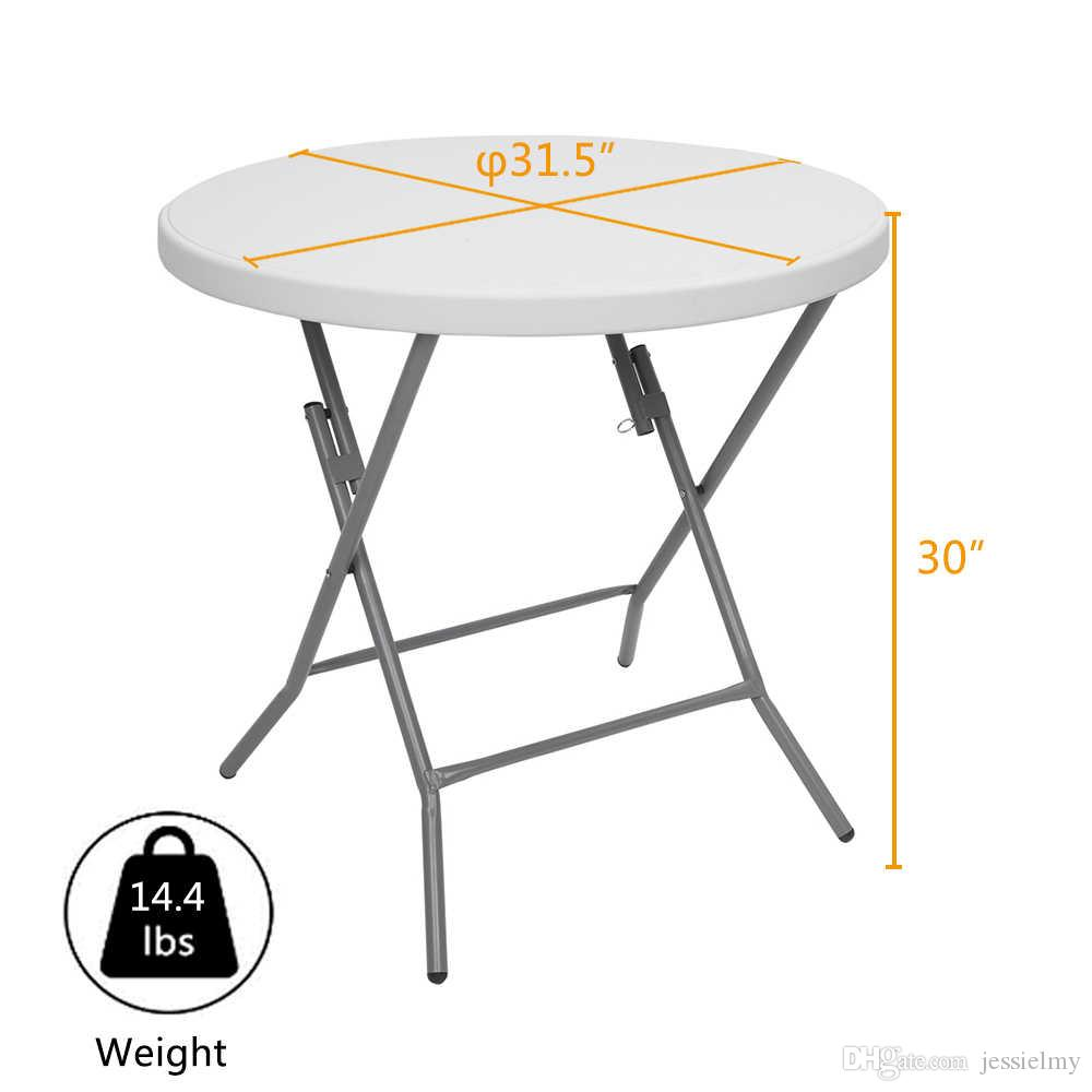 - 2020 SONYI Outdoor Folding Table 32inch Round Small Size Light