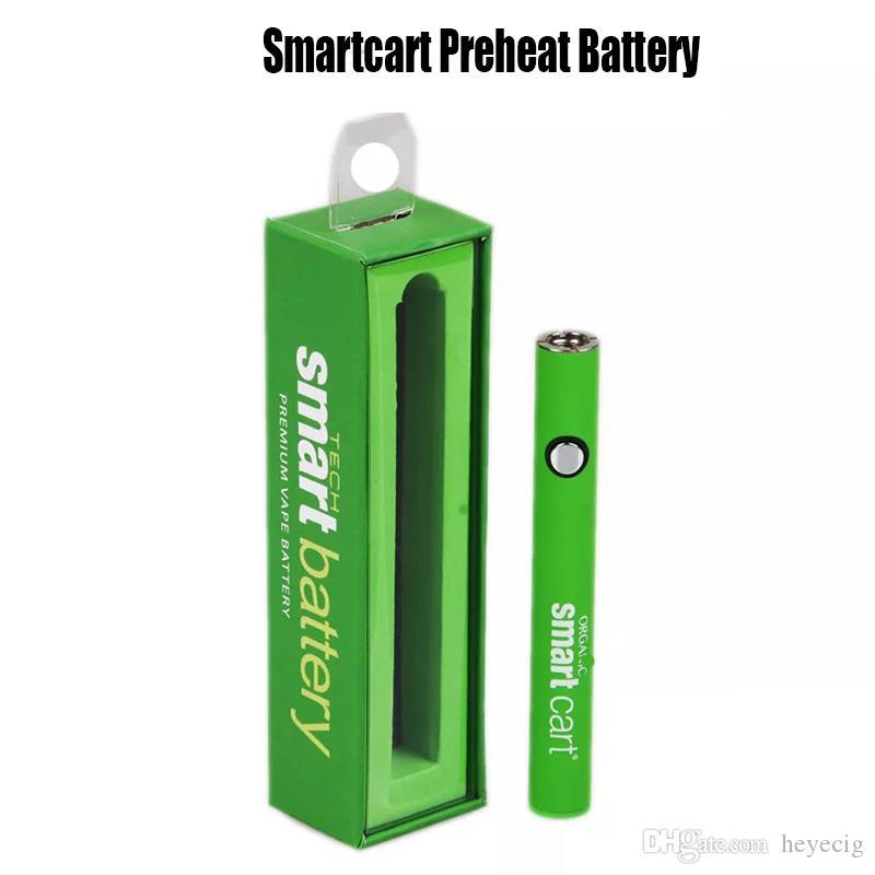 Зарядное устройство на полную мощность SmartCart батареи 380mAh Разогреть В. Батарея Variable Voltage Bottom USB для 510 Thread густое масло картридж