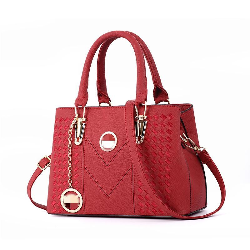 Vintage Moda kadın tasarımcı çanta Yeni Yüksek Kalite Pu Deri Kadınlar Çanta Kontrast Basit Bez Omuz Messenger Çanta # 676