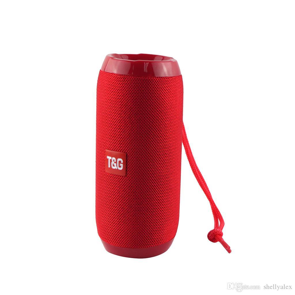 TG106 Bluetooth Wireless Speaker Portable Subwoofer Mini Outdoor Cycle Bass Soundbar Hi-Fi Boom Box Loudspeaker Box Support TF Card FM Radio