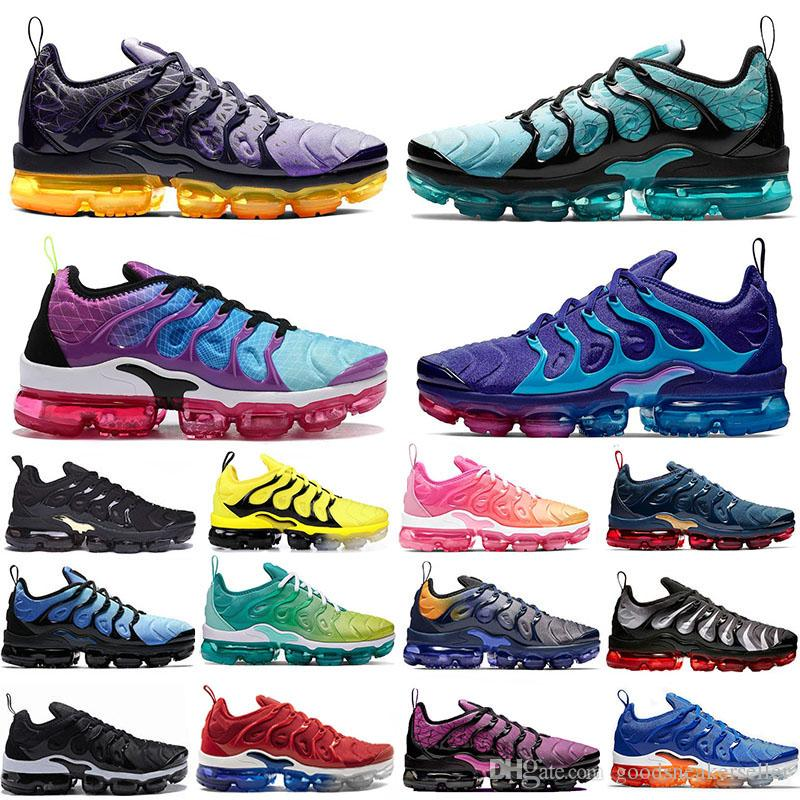 Top Quality TN Plus Regency Purple Running Shoes Hyper Violet Lemon Lime Be True Spirit Teal Active Fuchsia Women mens trainers sneakers