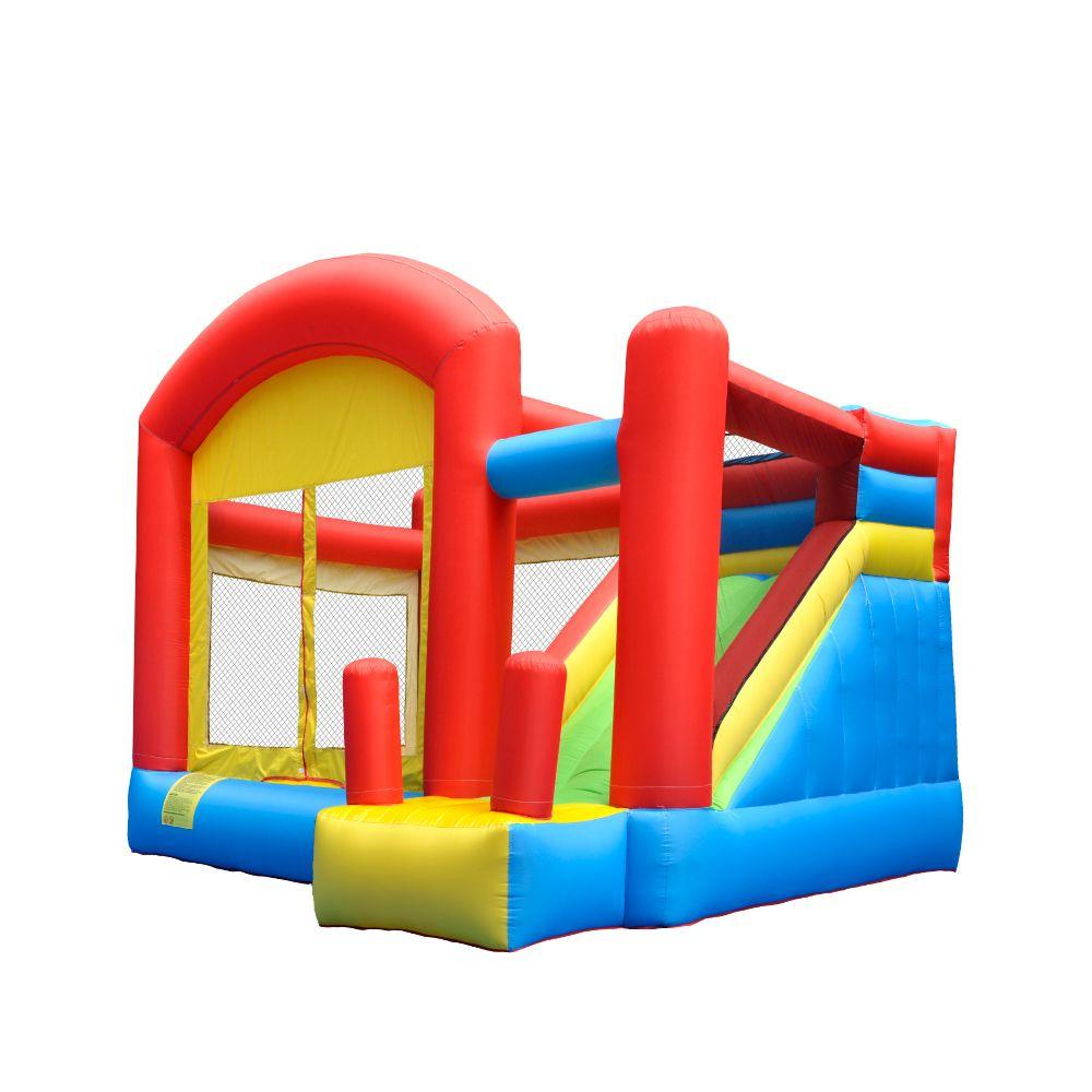 Kids Inflatable Bounce Houses With Slide Inflatable Moonwalk Climbing Bounce House Combo Jumping Castle Slide With Air Blower