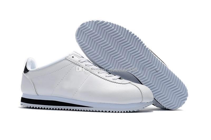 Hot nuovi marchi di alta qualità pattini casuali degli uomini e le donne della moda Cortez Conchiglie pattini di svago scarpe di cuoio delle scarpe da tennis all'aperto dimensioni US5.5-10