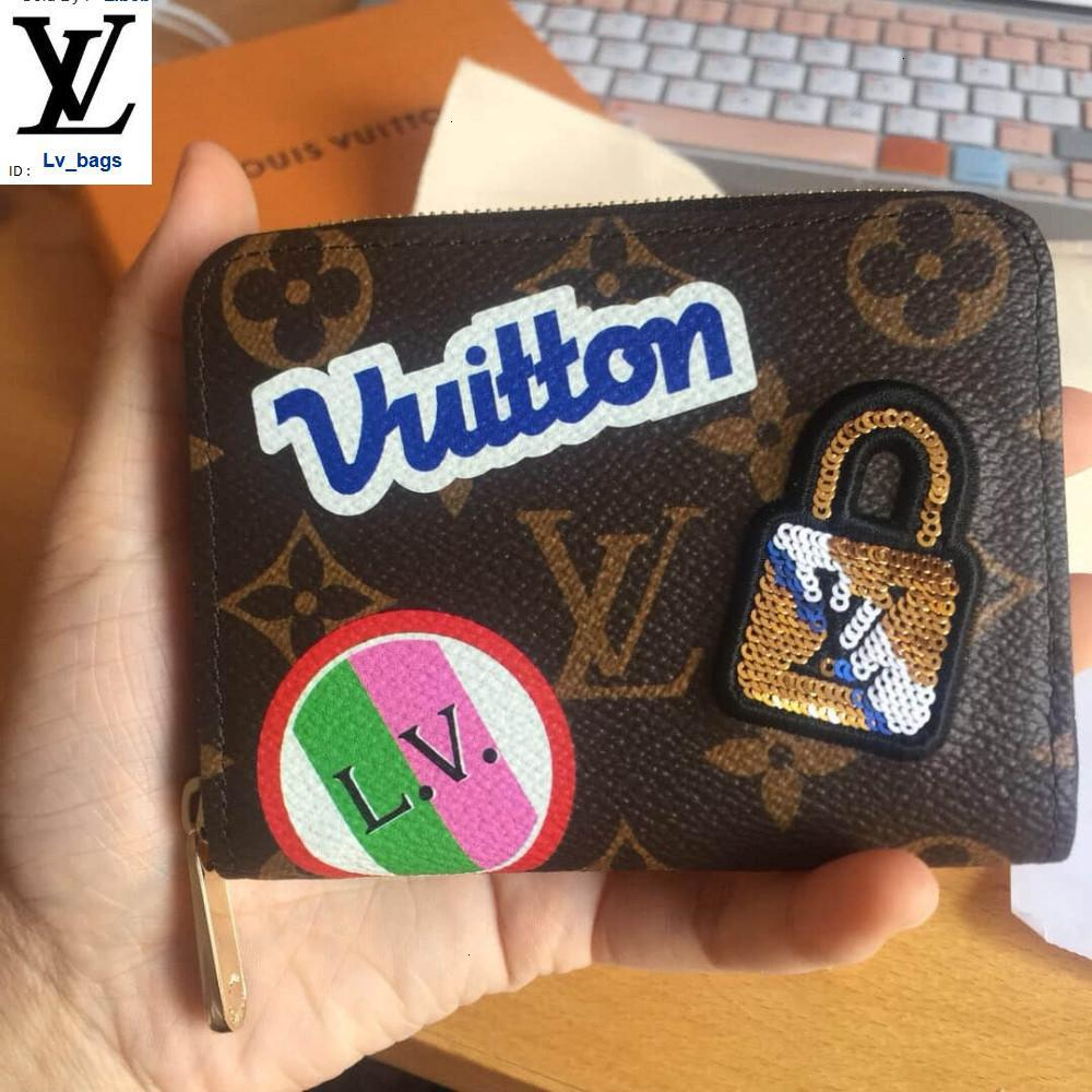 Yangzizhi New Tanabata Valentine's Day Limited Badge Small Card Package Long Wallet Chain Wallets Compact Purse Clutches Evening Key
