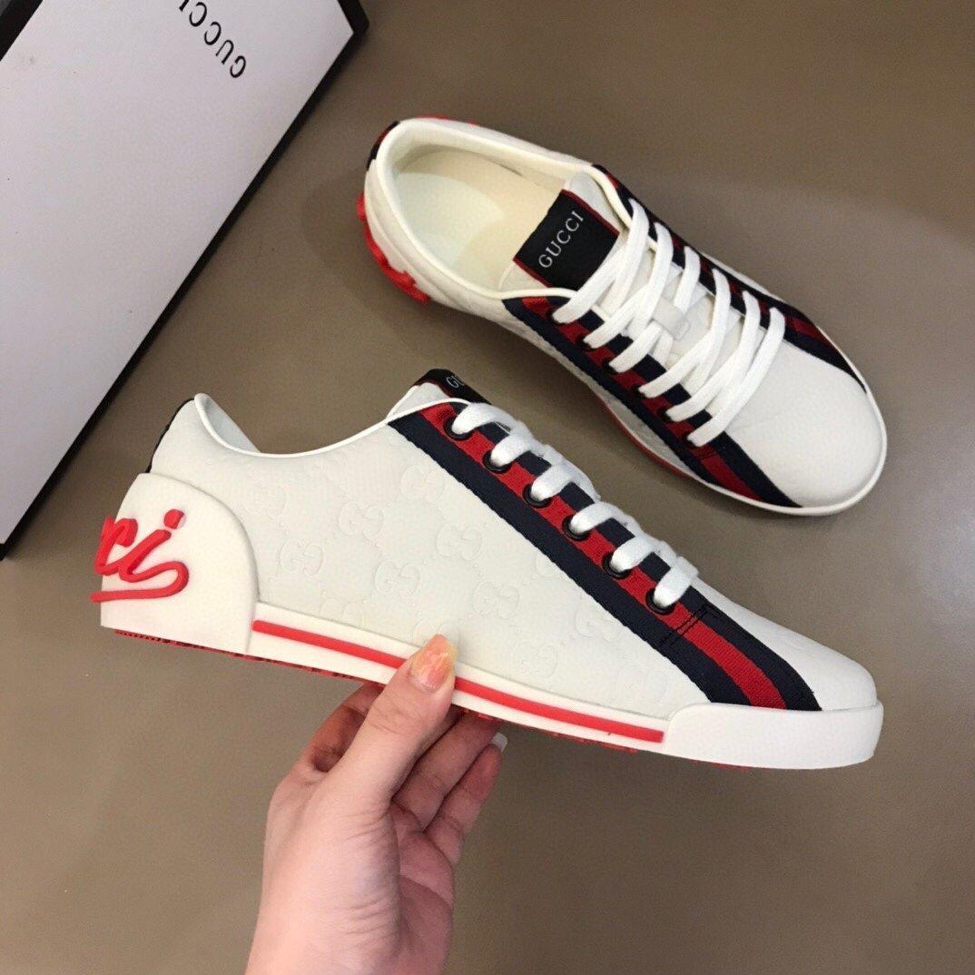 Diseñador de lujo Rockrunner zapatillas de deporte de cuero mujeres de los hombres zapatos casuales zapatillas de deporte Calzado mujeres se visten de Pisos Zapatillas de deporte Tenis impresión R384