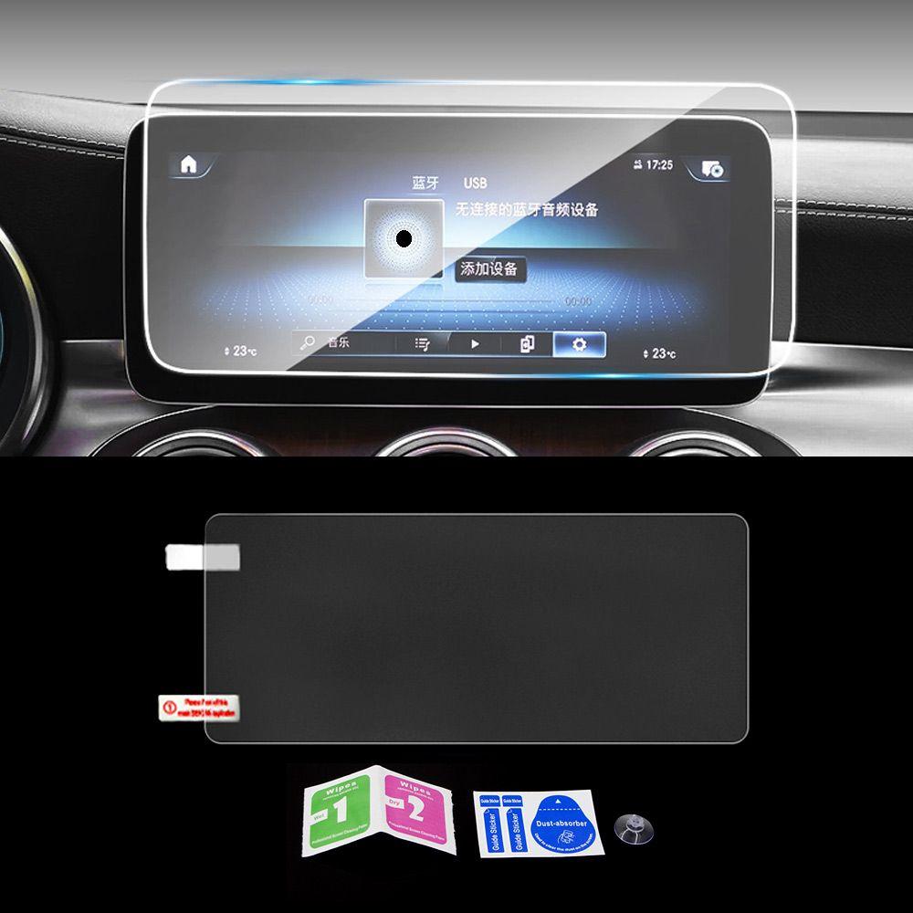 Mercedes-Benz GLC X253 C253 2015-2020 Araba Navigasyon GPS Monitör Ekran Koruyucu Cam Temperli Film Sticker Aksesuarları