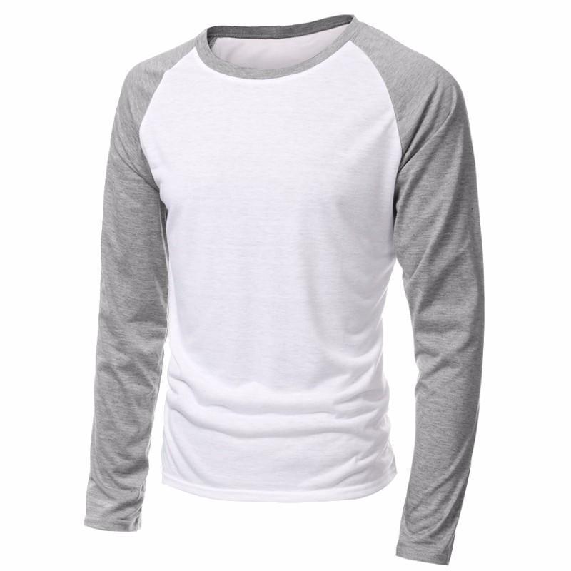 Men/'s Long Sleeve T-shirt Baseball Raglan Casual Workout Fashion Crew Neck Tee