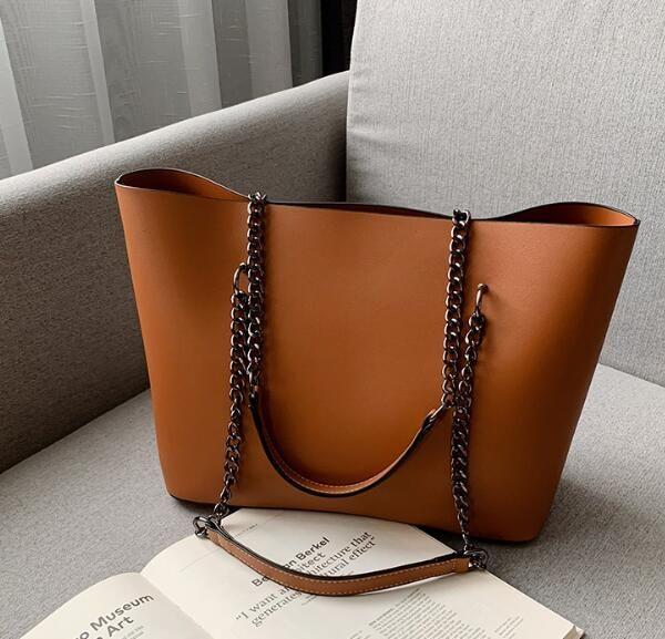 Designer Mulheres Grande Capacidade Bolsa de luxo Lady New Vintage Sacola Simples Ombro Plain Bags Moda Cadeia Handbag //