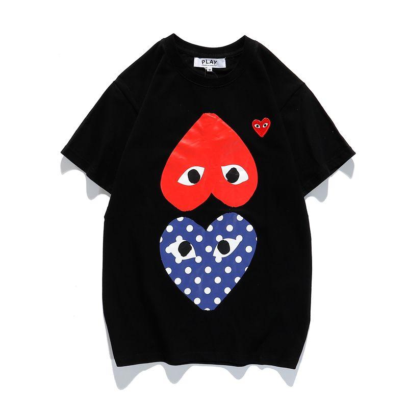 Designer Hommes Chemises Femmes d'été Mode Hommes Luxe T-shirts Coeur de modèle extérieur Streetwear Marque T-shirts Hip Hop Hommes Tops 2020695K