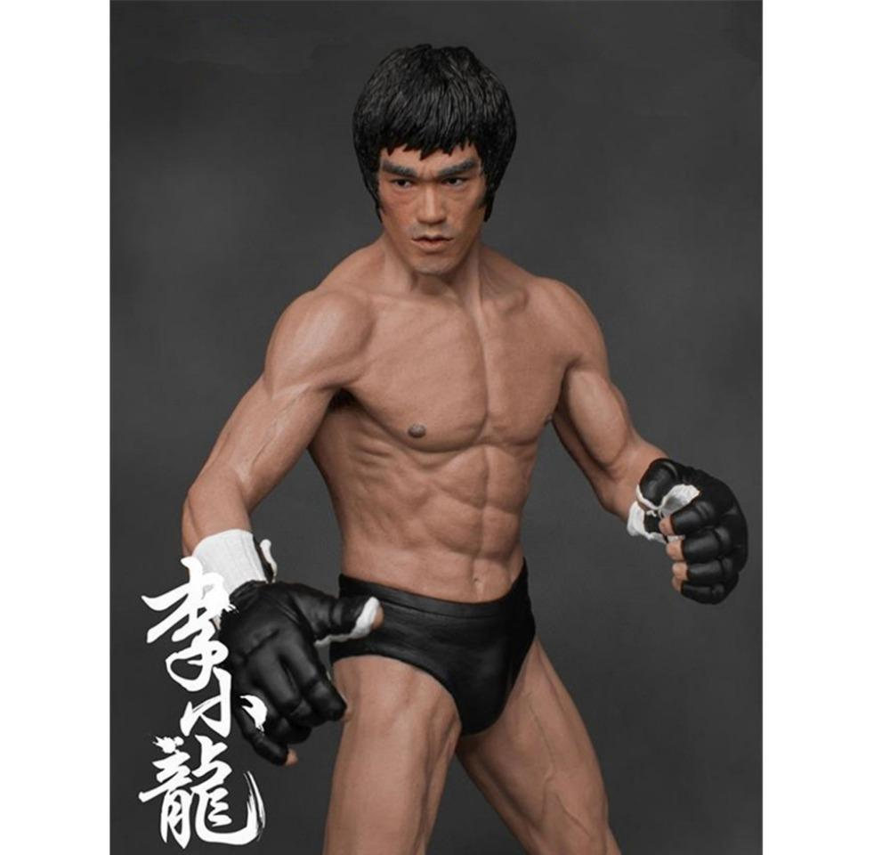Bruce Lee PVC Action Figure Fighting Version Collection Model Toys Kid Gift