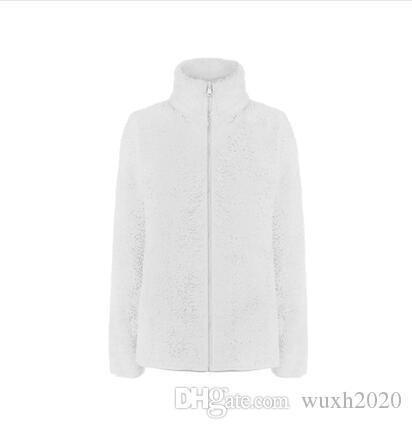 siyah beyaz ceket dış giyim rüzgar geçirmez pembe kurdele açık 2019 yeni Kadın Osito Fleece Fermuar Ceketler Moda