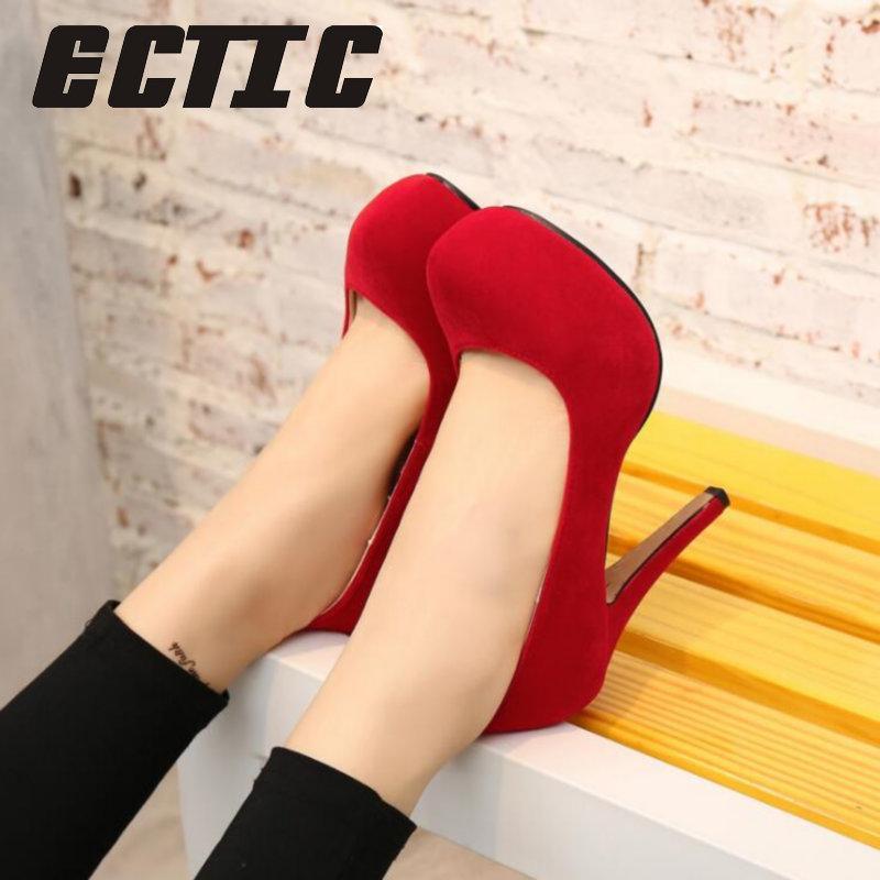 ECTIC Bahar sonbahar bayan ayakkabıları kadın yüksek topuk ayakkabı Fashiona bleelegant kadın yüksek topuklu Düğün ziyafet kadın ayakkabı YA-78