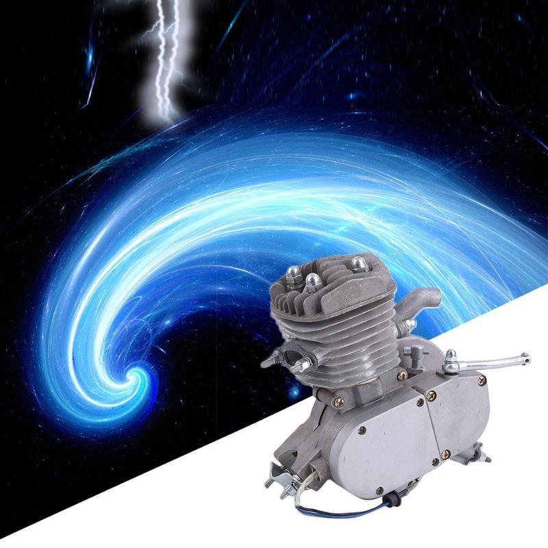 جديد الفنية 2 السكتة الدماغية 80cc دورة موتور محرك كيت العظمى الغاز لبمحركات الدراجات دراجات فضية دورة