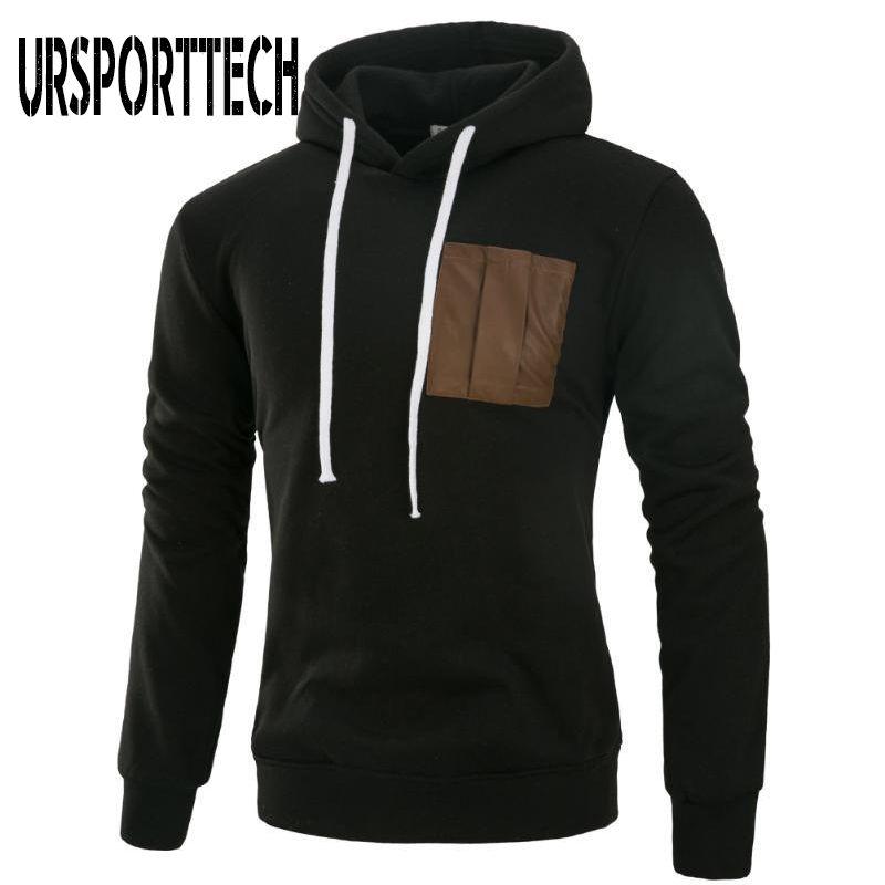 Hoodies dos homens moletons Ursporttech marca homens primavera outono moda manga longa moletom casual streetwear masculino hoodie