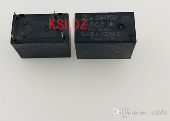 Freies Verschiffenlot (5pieces / lot) 100% ursprüngliches neues SAN SIE SJ-SH-112DMH2 12VDC DC12V 12V 4PINS 10A Leistungsrelais