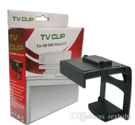 للطي البلاستيك حامل كليب التلفزيون المشبك المشبك لأجهزة إكس بوكس 360 واحد Kinect 2.0 العين استشعار الحركة تركيب كاميرا التلفزيون كليب حامل