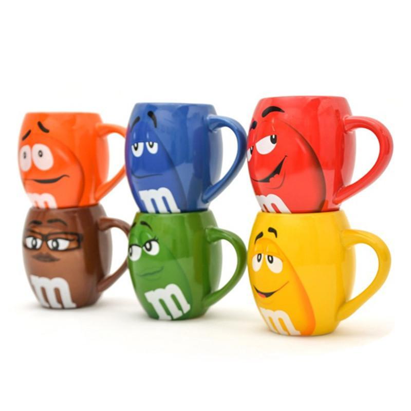 mm xícaras de café grãos de canecas do chá e canecas cartoon cute expressão marca de grande capacidade drinkware Natal presente T200104