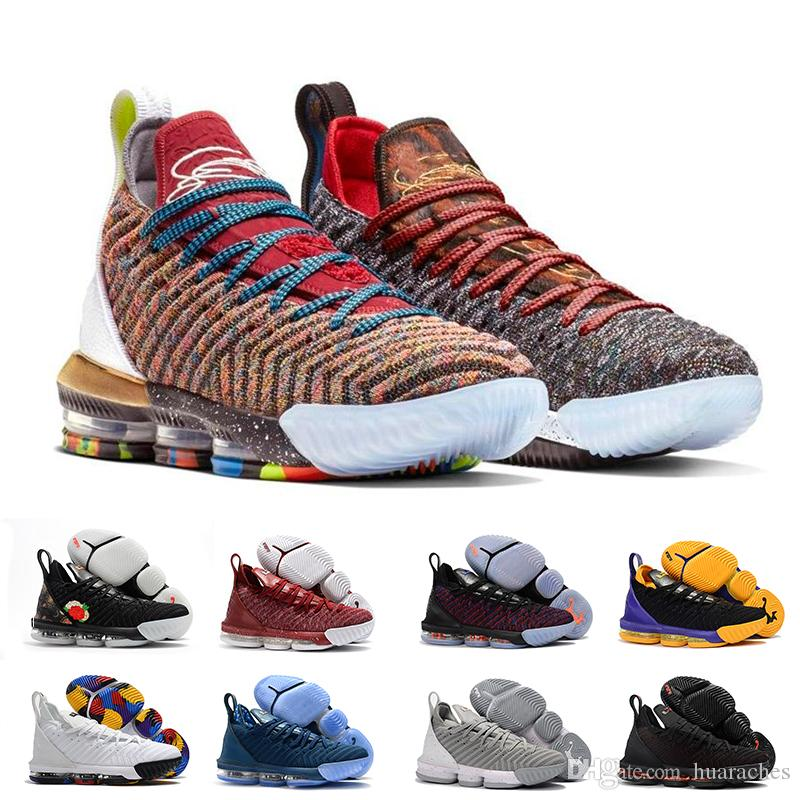 2019 XVI 16 Rainbow 1 THRU 5 CNY Lakers Oreo Fresh Bred Basketball Shoes Mens Athletic Trainers 16s Sports Designer Sneakers Chaussures
