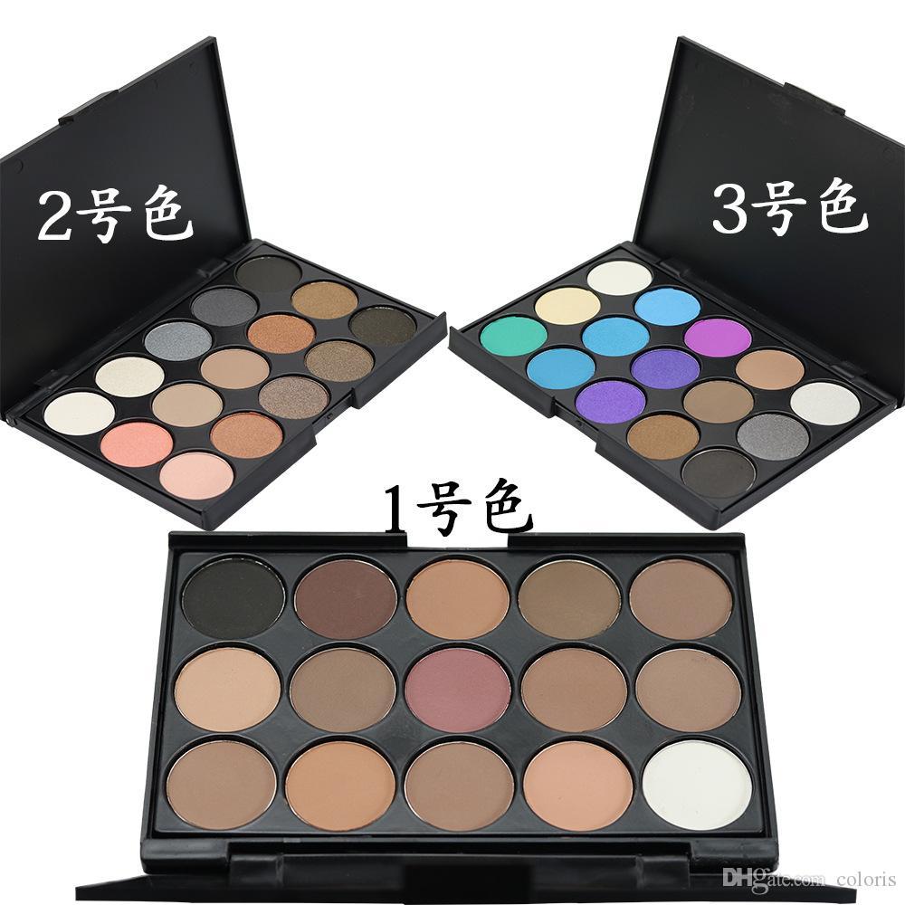 Makeup Eyeshadow Palette 15 färger Matte och Shimmer Eyeshadow Nude Earth Color Powder Palette Eye Shadow Eppacket Ship Way