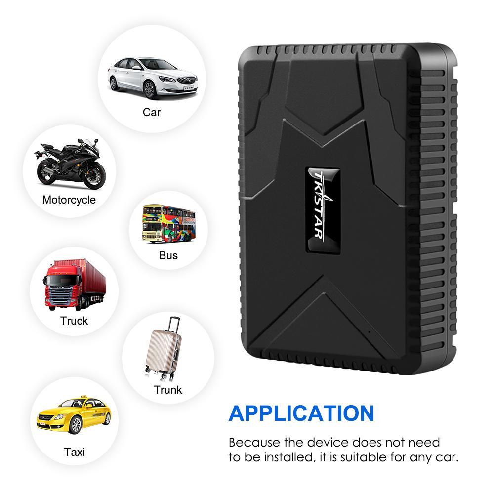 TKSTAR GPS Tracker voiture MiNi TK915 GPS Locator 10000mAh Magnet Tracker voiture étanche IP65 GPS Autoprotection APP LIBRE LIFETIME