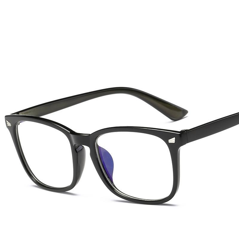 Klasik Sıcak Yeni Trend Erkek Kadın Gözlük Retro Moda Yüksek Kalite Tasarımcısı Kare Şeffaf Şeffaf