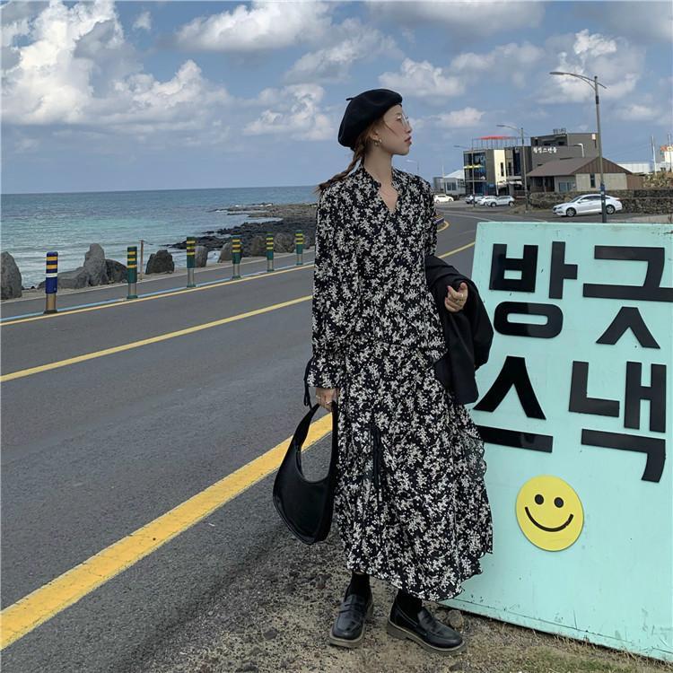 Femmes Designer Robes d'été Nouveau Fitness Cerisiers Banderoles Floral lanterne manches col V Robe Femme taille haute Mode Jupe longue