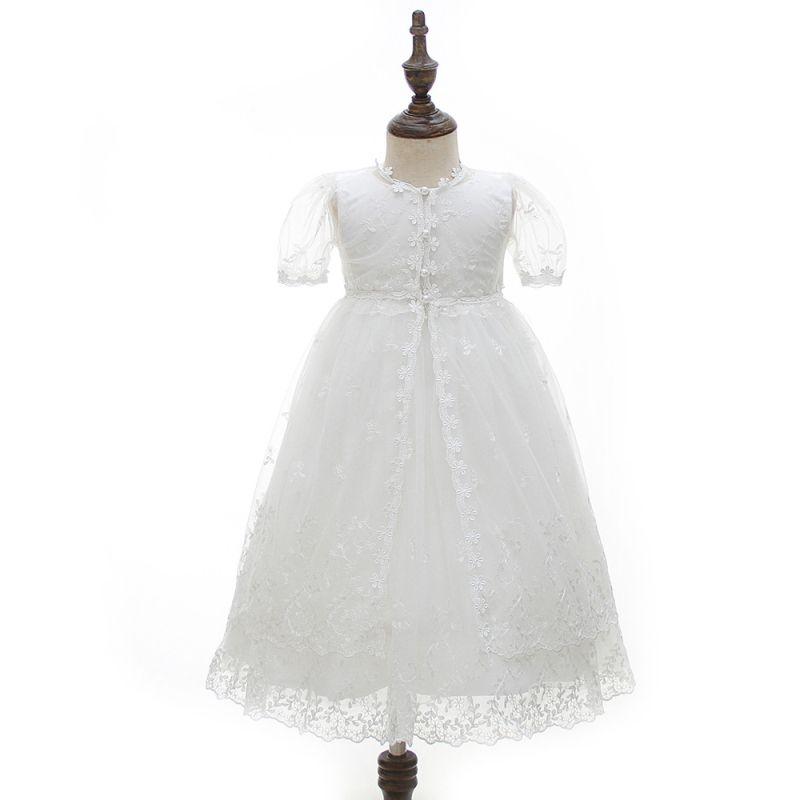 Yeni Dantel Bebek Kız Giydirme Parti ve Düğün Vaftiz Örtü Kız 1 2 Doğum Kıyafetleri Bebek Giydirme Vaftiz B113