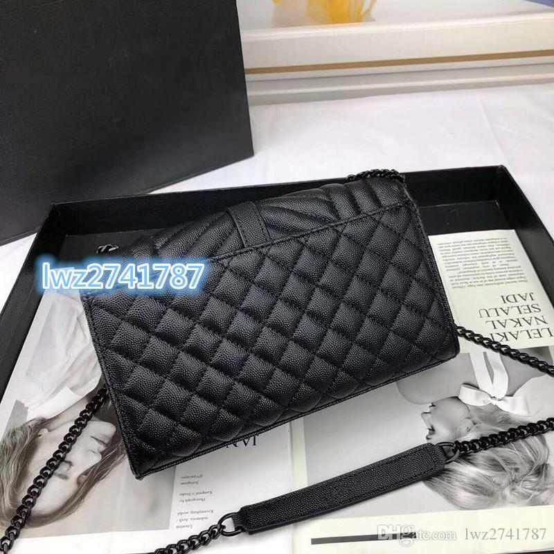 Neueste Stil Frauen Echte Handtasche Mode Tasche Frauen Umhängetasche Klappe mit Crossbody Kaviar für Lederkiste Khcra